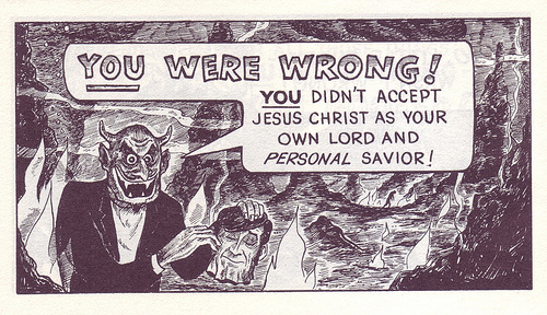 Jack Chick comic book.