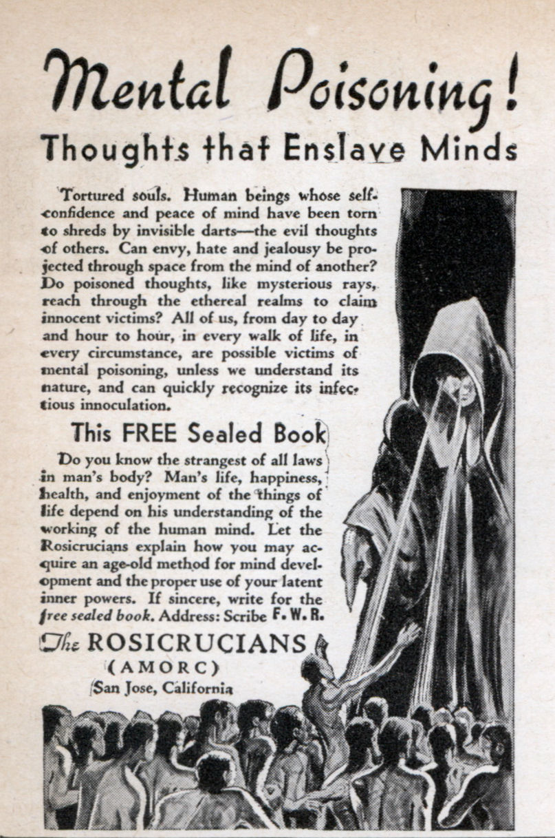 Vintage comic-book ad for The Rosicrucians.