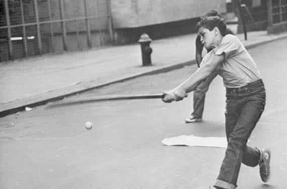 Stickball in Brooklyn in the 1950s and 1960s.