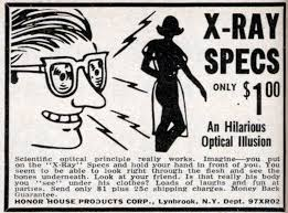 Vintage comic-book ad for X-Ray Specs.
