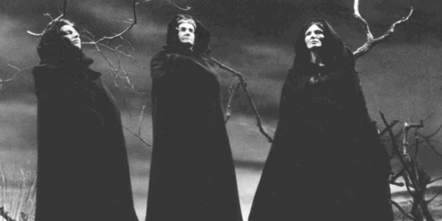 The three witches in Macbeth