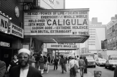 Movie marquee for Caligula