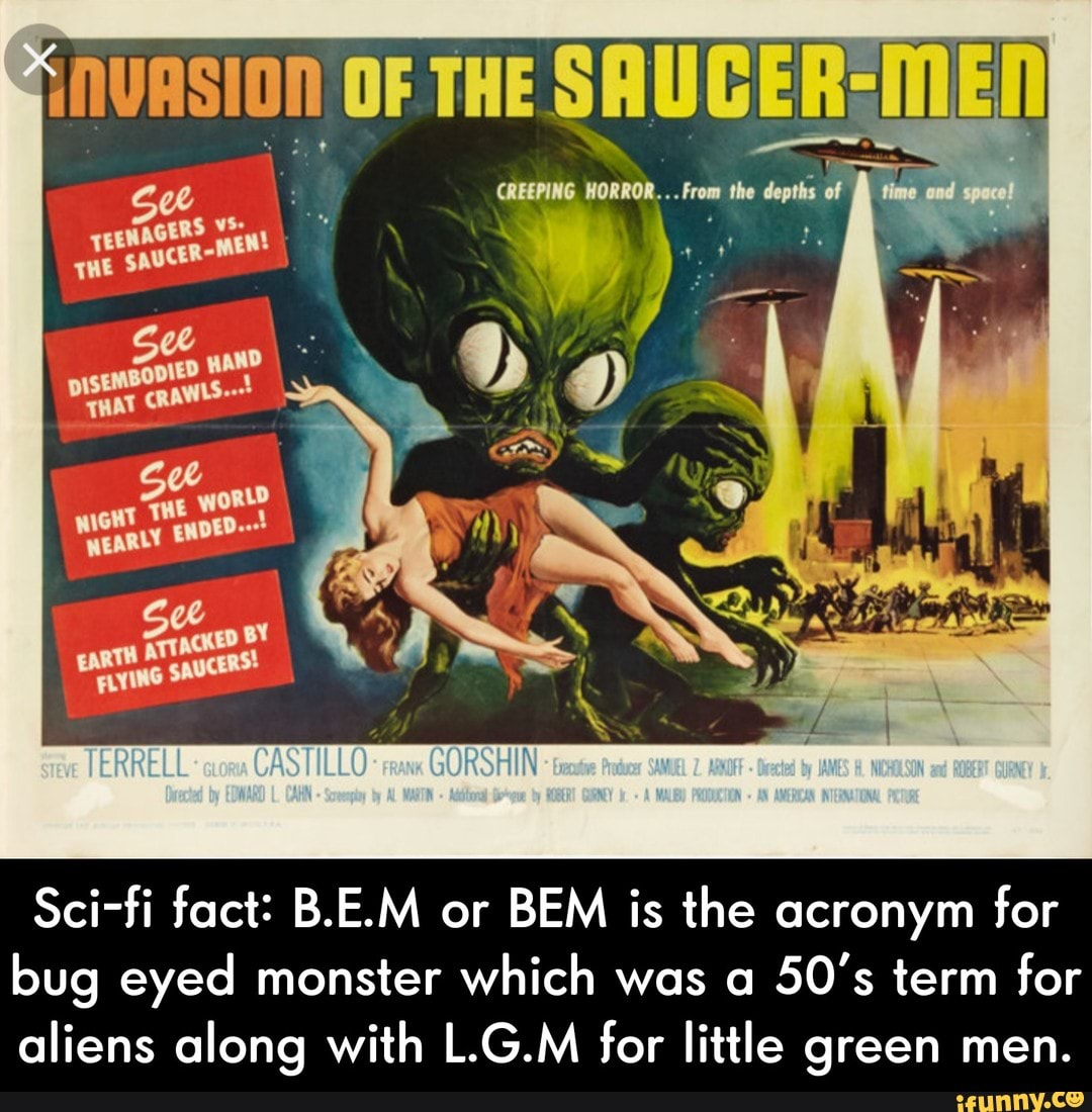 Movie poster of Invasion of the Saucer Men