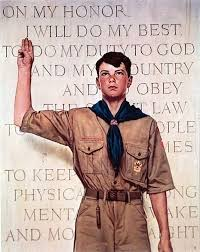 Norman Rockwell painting of a nice Boy Scout