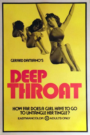 Original movie poster for Deep Throat