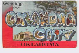 Vintage postcard of Oklahoma City