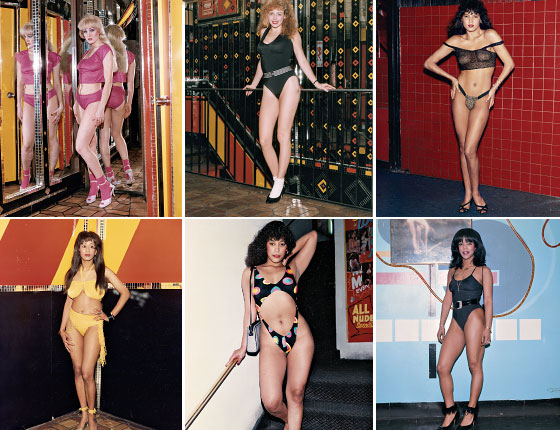 Peep Show performers in the 1970s on 42nd Street, Times Square, NY