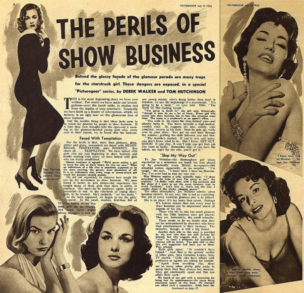 The Perils of Show Business - Picturegoer magazine July 14, 1956