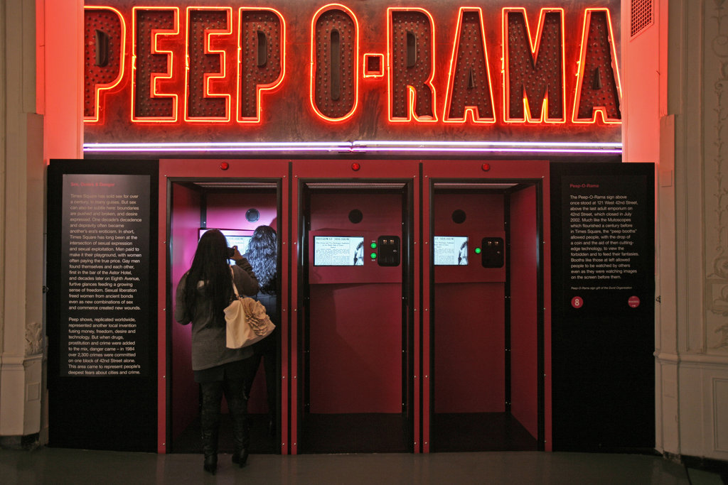 Peep show theater in Times Square, NY