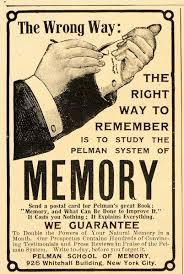 Vintage ad for memory improvement