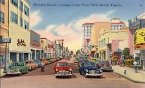 Vintage postcard of West Palm Beach