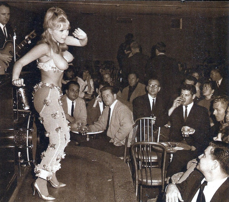 1960s topless go-go girl