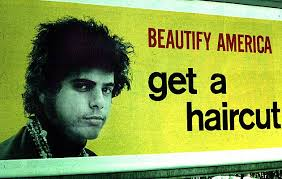 Billboard - Beautify America - Get a Haircut