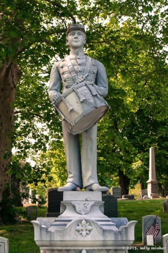 Drummer Boy atop grave in Green-Wood Cemetery, Brooklyn