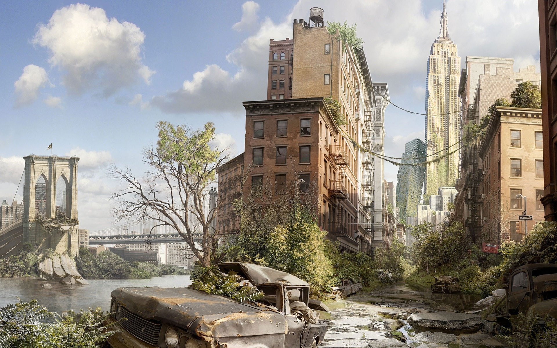 Dystopian view of New York City