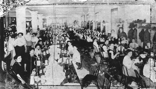 Early 20th century sweatshop in New York