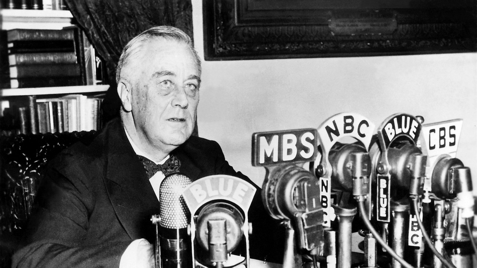 FDR making a radio address