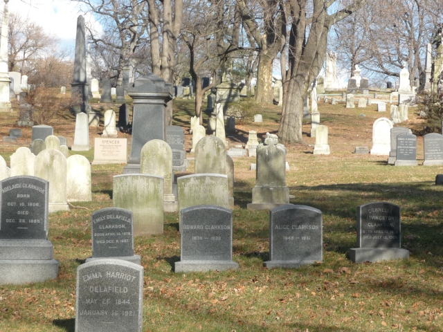 Gravestones in Green-Wood Cemetery in Brooklyn, New York