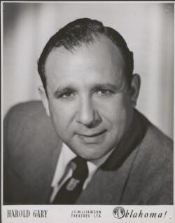 Harold Gary in the musical Oklahoma