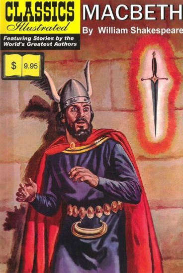Classics Illustrated cover for Macbeth