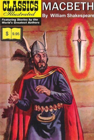 Classics Illustrated cover for Macbeth