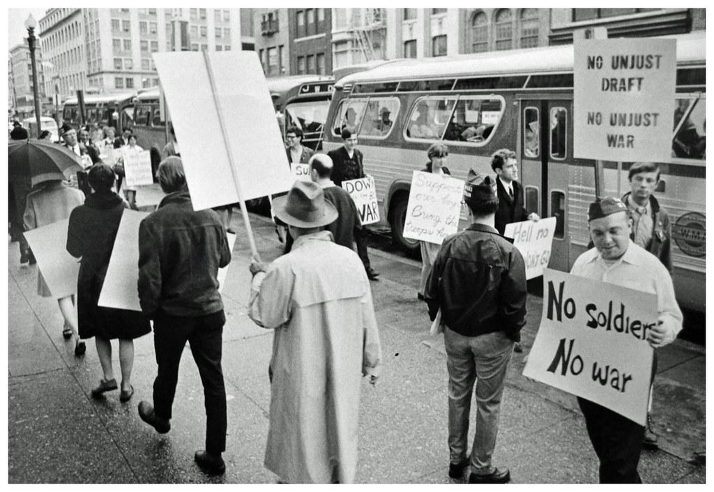 Anti-draft demonstration in 1967