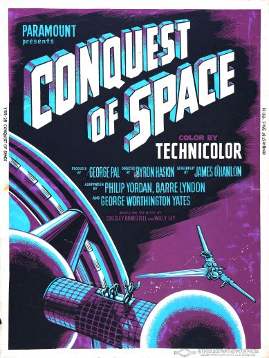 Film poster for Conquest of Space (1955)