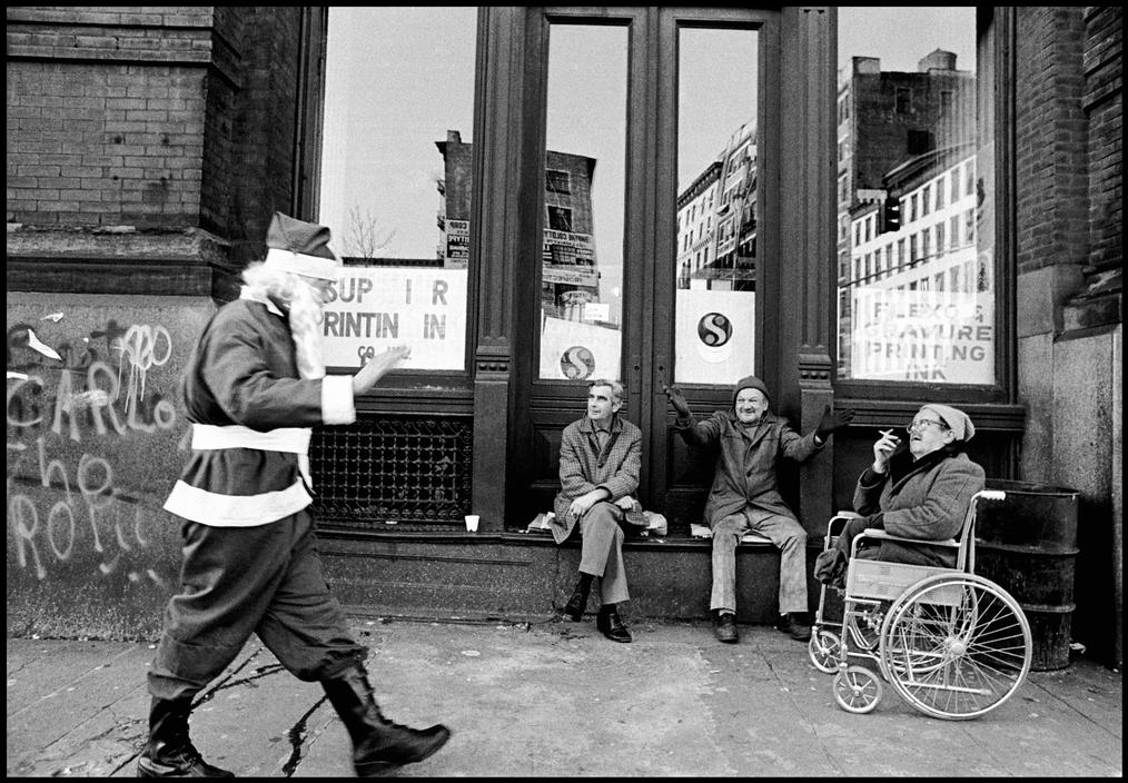 Santa Claus on The Bowery in NYC