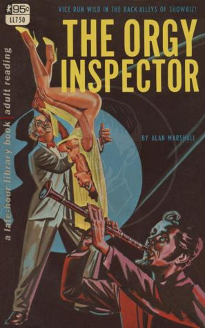 Vintage pulp cover for The Orgy Inspector