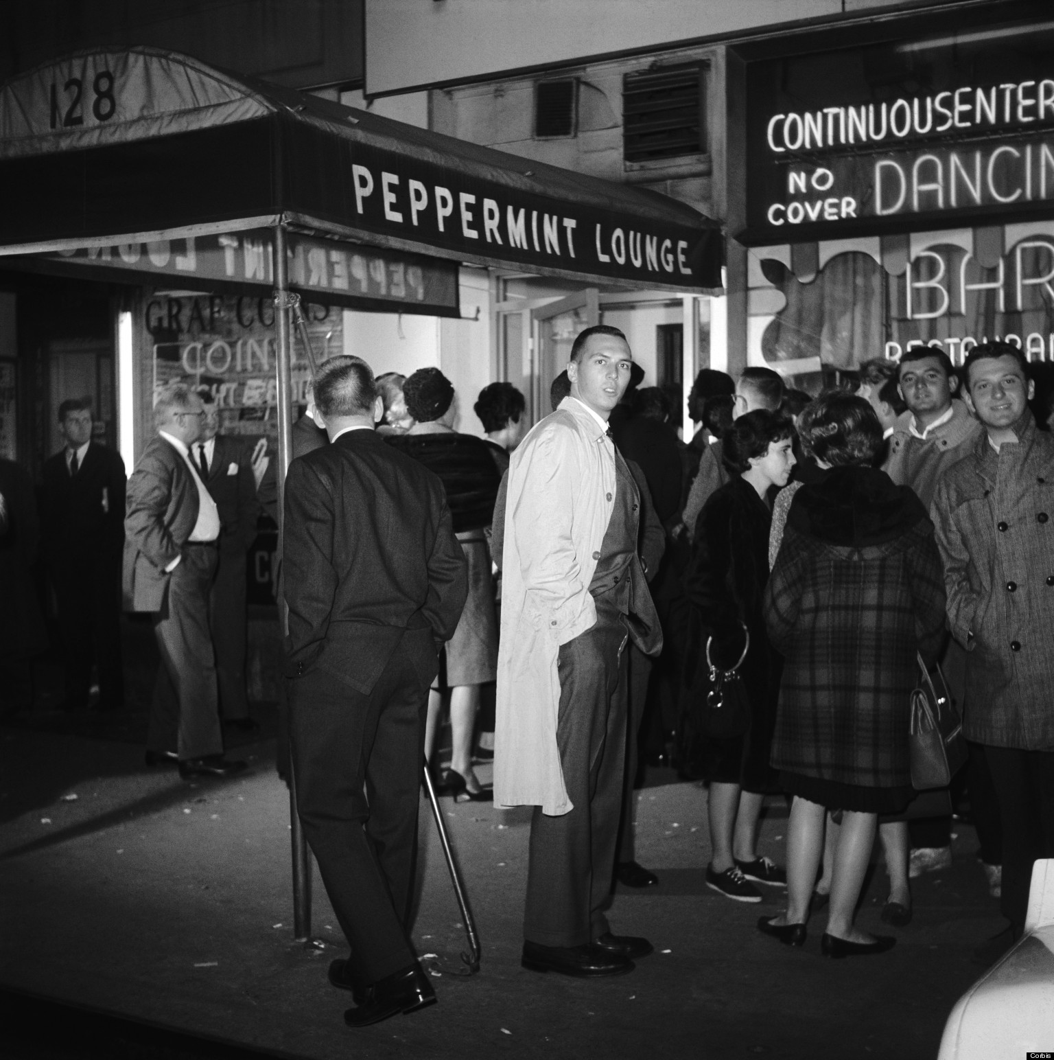 Crowds outside The Peppermint Lounge