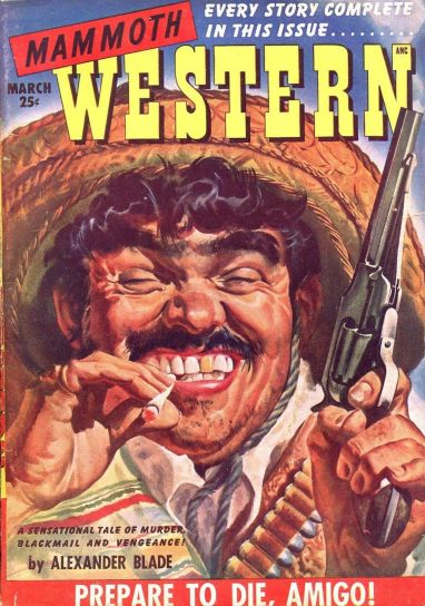 vintage cover of Mammoth Western magazine