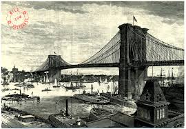Vintage postcard of The Brooklyn Bridge