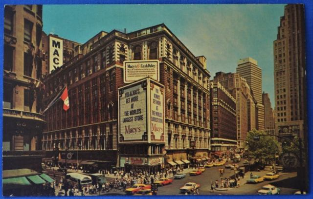 Vintage postcard of Macy's, New York