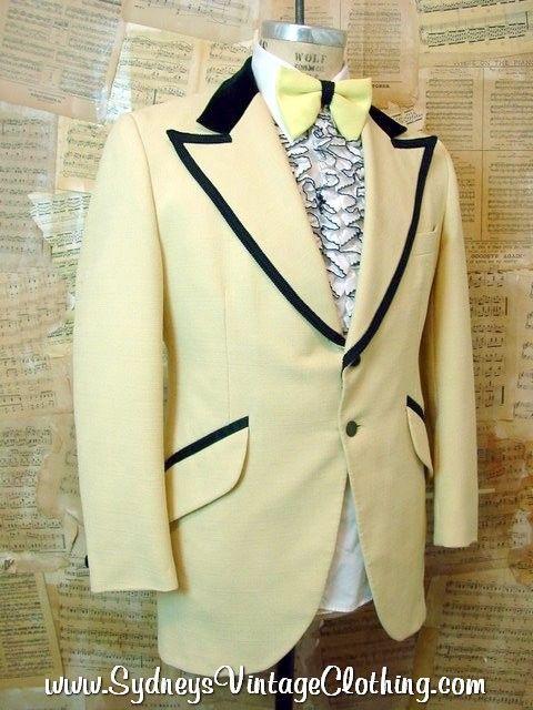1970s yellow tuxedo jacket