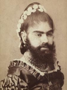 Vintage bearded lady