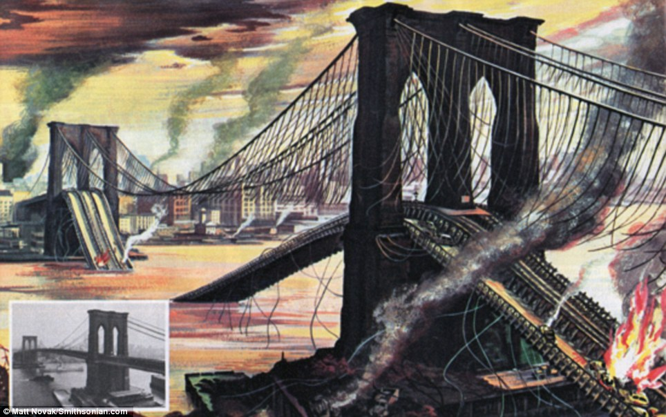 Brooklyn Bridge after nuclear attack