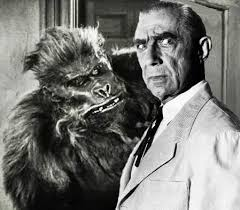 Bela Lugosi and gorilla in Bela Lugosi Meets a Brooklyn Gorilla