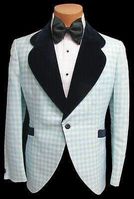 1970s plaid tuxedo jacket