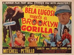 Movie poster for Bela Lugosi Meets a Brooklyn Gorilla