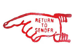 Vintage Return to Sender U.S. Post Office stamp