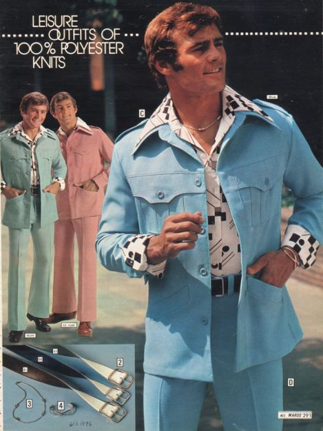 Vintage 1970s ad for leisure suits