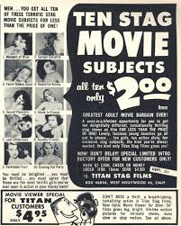 Vintage magazine ad for Stag Movies
