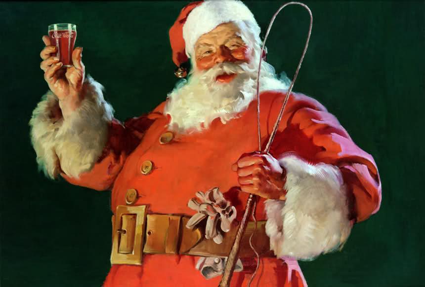 Vintage Coca-Cole Santa
