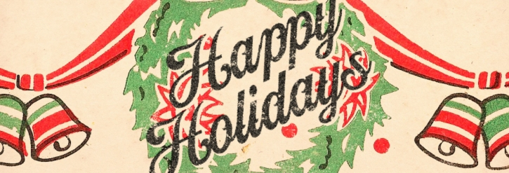 Vintage Happy Holiday card