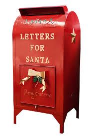 "Vintage toy mailbox ""Letters for Santa"""