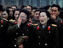 Weeping North Korean soldiers.