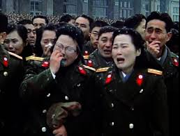 Weeping North Korean soldiers.