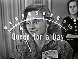 Woman and applause meter on Queen for a Day