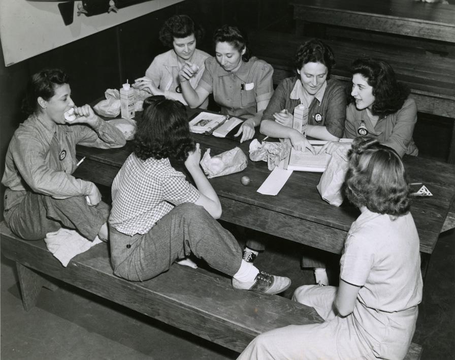 WW2 female mechanics at Brooklyn Army Terminal.