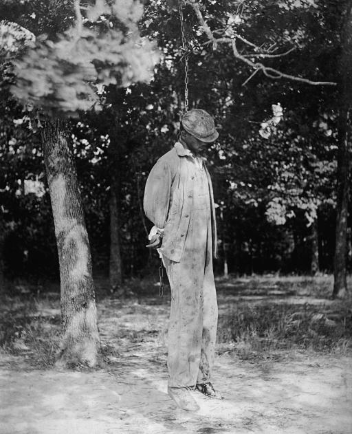 Lynched Black man.